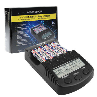 PRO 7dayshop AA and AAA Intelligent NiMH Battery Charger Multi Mode LCD Display