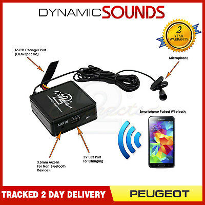 Peugeot Bluetooth Streaming Handsfree Calls CTAPGBT011 AUX USB MP3 iPhone Sony