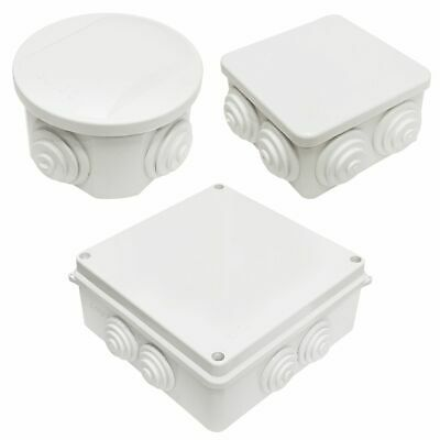 White Waterproof  Outdoor Terminal Junction Boxes Electrical Enclosure
