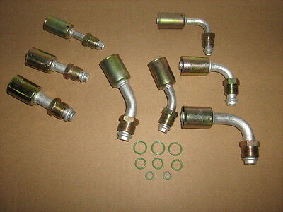 Air Conditioning AC Fittings Beadlock 45 90 Degree O-Ring #6 #8 #10 Fitting Kit