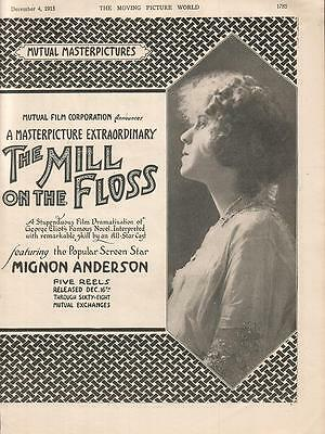 Mignon Anderson Harris Gordon 1915 Ad- The Mill On The Floss/Mutual
