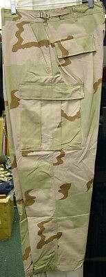 Usgi Military Issue 3 Color Desert Camo Bdu Dcu Trousers Pants Twill New