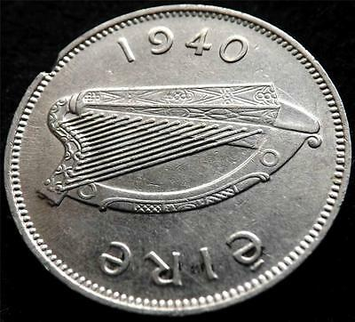 1940 EIRE IRELAND 6d SIXPENCE COIN