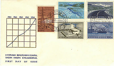 1967 CYPRUS  Development Stamps Set 5v SG297-301 First Day Cover REF:181