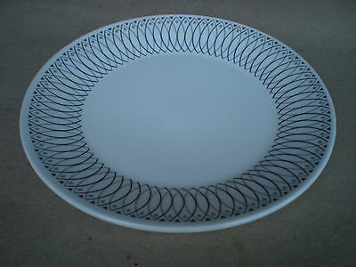 """J & G Meakin SCRAFFITO 10"""" Dinner Plate Black and White Ironstone England"""