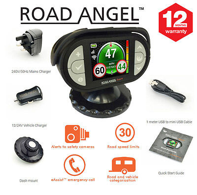 Road Angel Gem+ Speed Safety Camera Detector GPS with Laser Radar Detector
