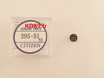 Original Citizen eco drive solar movement capacitor battery 295-51 E100 E101