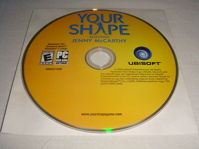 Your Shape Featuring Jenny McCarthy - PC DVD Computer game Disc Only E