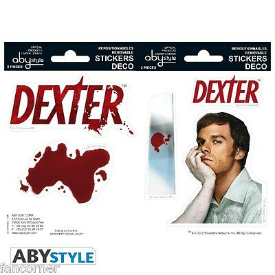 Dexter Blister de 5 autocollants officiels dexter official removable stickers