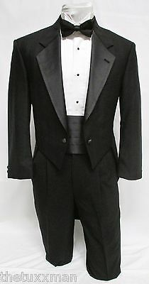 43 S Karl Lagerfeld Mens Black Full Dress Tuxedo Tailcoat Tux Tails Coat Wedding