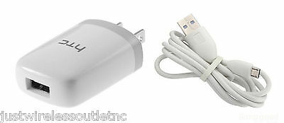 OEM 1-Amp HOME WALL TRAVEL AC CHARGER POWER ADAPTER USB CABLE FOR HTC CELL PHONE