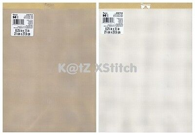DARICE PLASTIC CANVAS 14ct 8¼ x 11in 1 2 3 6 9 & 12 Transparent / White Sheets