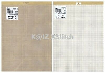 DARICE PLASTIC CANVAS 14ct 8¼ x 11in 2, 3, 6, 9 & 12 Transparent / White Sheets