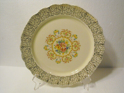 W.s.george  Bread Butter Plate  Canarytone Lido Gold Filigree  Floral