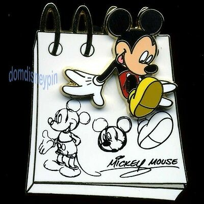 Disney Pin *From the Sketch Pad* Collection - Mickey Mouse Drawings (3D)!