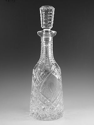 """WATERFORD Crystal - SHANNON Cut - Tall Decanter - 13"""""""
