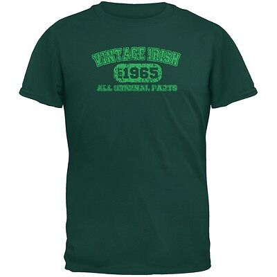 St. Patricks Day - Vintage Irish 1965 Forest Green Adult T-Shirt