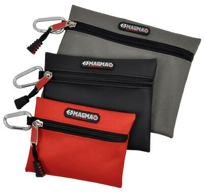CK MAGMA ATTACHABLE ZIPPED POUCH - Pack of 3 Storage Pouches With Metal Clips
