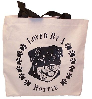 Loved By A Rottie Tote Bag New Rottweiler MADE IN USA