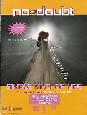 No Doubt 2000 Ad- Simple Kind Of Life/spinning on KIIS FM