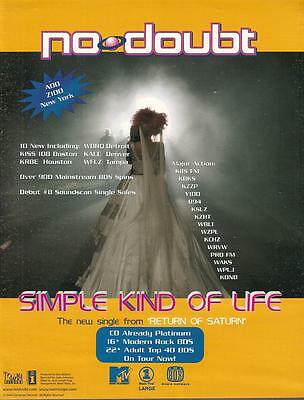 No Doubt 2000 Ad- Simple Kind Of Life/add Z100 New York