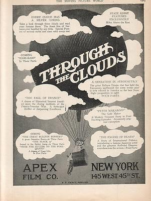 Ernest G batley Marie Pickering George Foley 1913 Ad- Through The Clouds/Apex