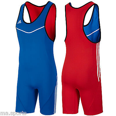 New Adidas 3 Stripes Mens Reversible 2 In 1 Wrestling Climalite Lightweight Suit