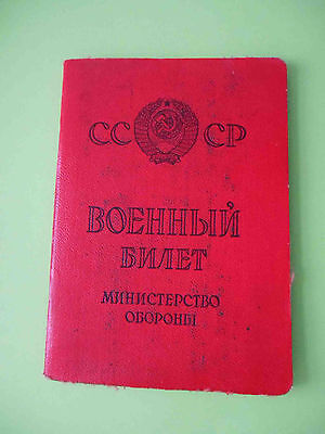 RUSSIA Russian Soldier ID  RED Army USSR DOCUMENT with Real photo
