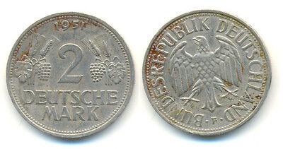 BRD: 2 Mark Ähren 1951 F