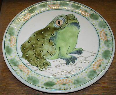 VINTAGE LARGE JANET ROTHWOMAN FROG PITCHER AND PLATE