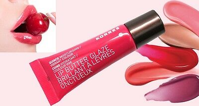 Korres Raspberry Lip Butter Glaze 10ml New