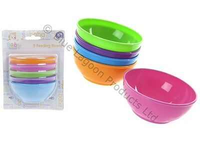 BPA Free Coloured Baby Toddler Kids Feeding Food Bowls  5 10 15