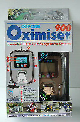 Oxford Oximiser 900 Motorcycle Battery Charger Maintainer Boat Jetski Atv