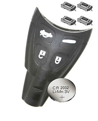 Fits to SAAB 93 95 9-3 9-5 Replacement Remote Key FOB  CASING SHELL + battery