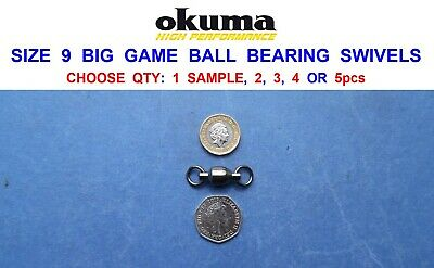 Heavy Duty Ball Bearing Swivels For Sea Game Fishing Boat Rod Rigs Lures Pirks