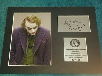 Heath Ledger ( The Joker ) Signed Autograph Display Mount HL2