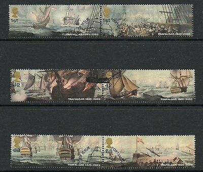 GB 2005 Bicentenary of THe Battle of Trafalgar fine used set stamps