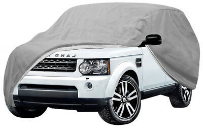 SUV Car Cover Durable Breathable Water Resistant Soft Silver Gray Outdoor Indoor