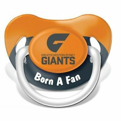 GWS Greater Western Sydney Giants AFL Infant Dummy Pacifier Baby Shower Gift