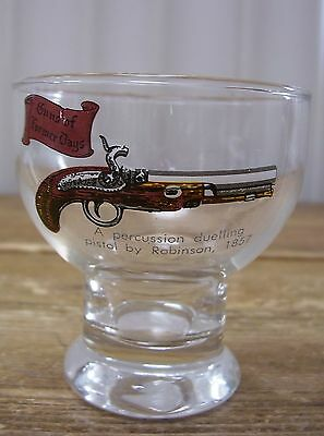 Guns Former Days Percussion Dueling Pistol Robinson Cordial Shot Glass Bar VTG