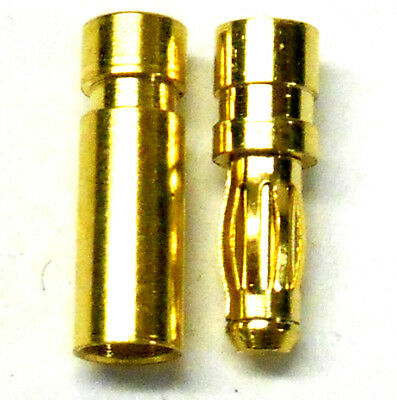 C0251 RC Connector 2.5mm Gold Plated Male and Female Bullet Banana x 1 Set