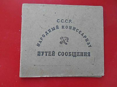 RUSSIA USSR 1935 Donetsk Railroad document ID for woman with Real photo