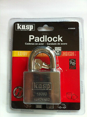 CK KASP 180 SERIES HIGH SECURITY HARDENDED BODY & SHACKLE 60mm PADLOCK (KP1111)