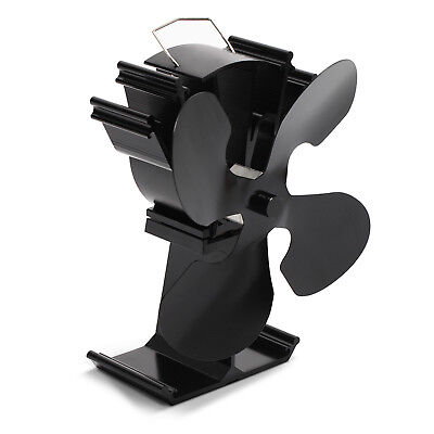 Kenley Heat Powered Stove Top Fan for Wood Log Coal Fire Burner - 2/4 Blades