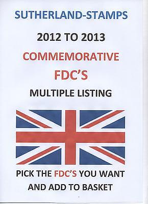 FDCs - GB 2012 2013 2014 FDC's - FDC Multiple listing - FREE UK postage
