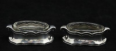 pair of Art Nouveau, Jugendstil Silver Salts, foreign silvermark & 800