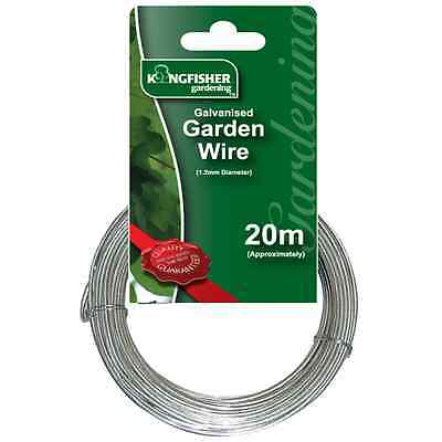 1.2Mm X 20M Metres Heavy Duty Galvanised Silver Garden Fencing Fence Wire Gsw103
