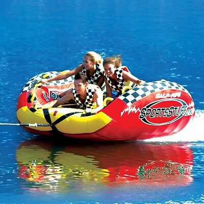 SportsStuff Half Pipe Frantic Inflatable Water 3 Rider Tube Boat Towable 53-2160