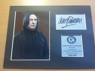 Alan Rickman - Severus Snape - Harry Potter - Signed Autograph Display Mount AR2