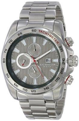 Akribos XXIV AK672GN Swiss Quartz Stainless Steel Tachymeter Bracelet Mens Watch